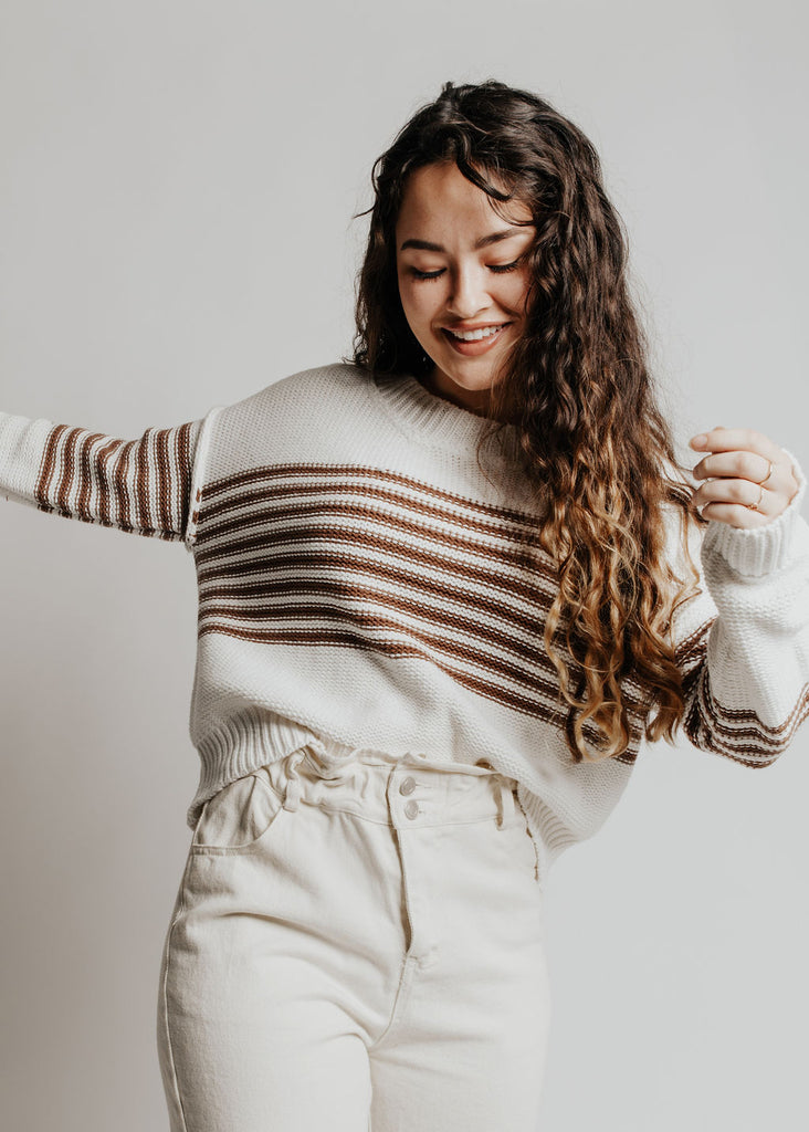 Canyon Moon Striped Sweater