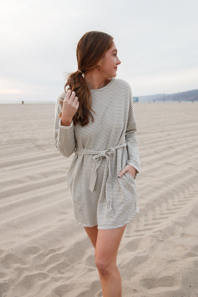 Olivia Striped Mini Dress