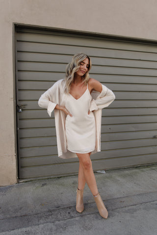 Simone One-Shoulder Sweater Dress