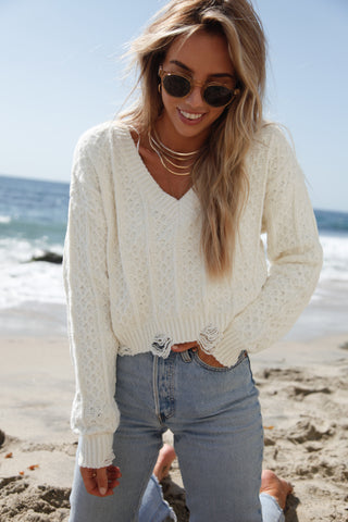 Penelope Cable Knit Sweater