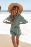 Iza Button Down Romper
