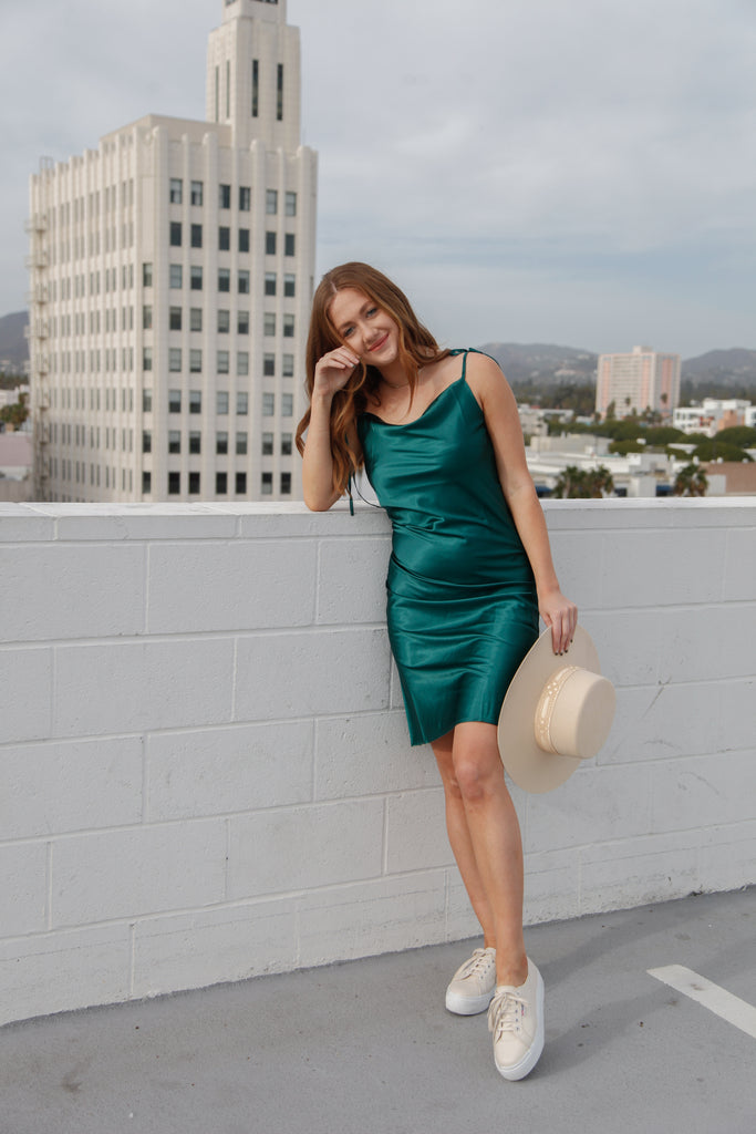 C'est La Vie Satin Slip Dress