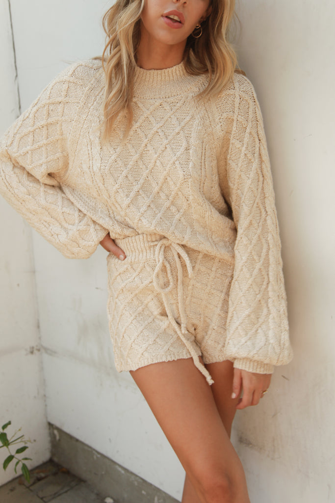 Camila Cable Knit Lounge Set
