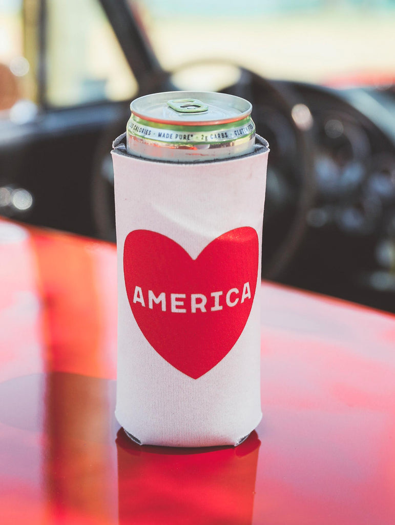 F+S: AMERICA HEART TALL DRINK SLEEVE