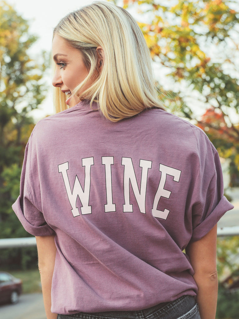 F+S: WINE FRONT + BACK TEE