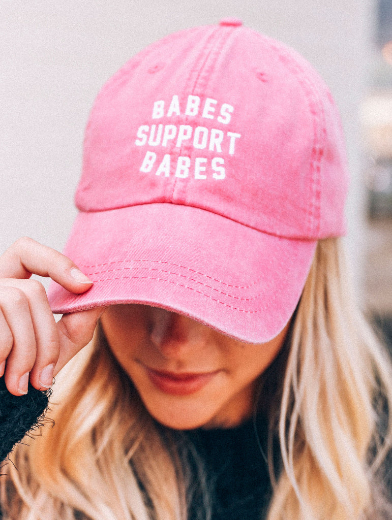F+S: BABES SUPPORT BABES PINK HAT