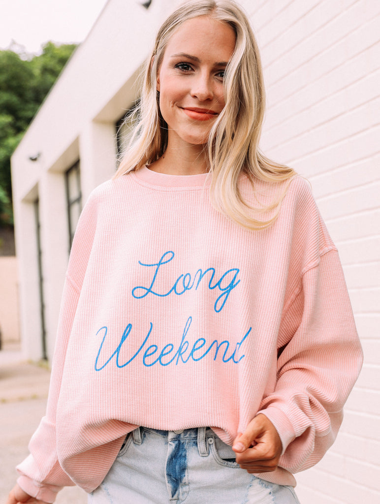 F+S: LONG WEEKEND CORDED SWEATSHIRT
