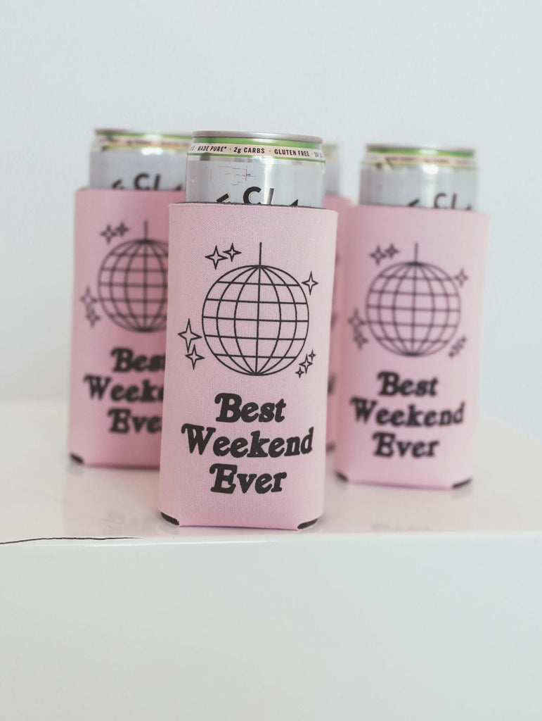 "F+S: TALL DRINK SLEEVE ""BEST WEEKEND EVER"""