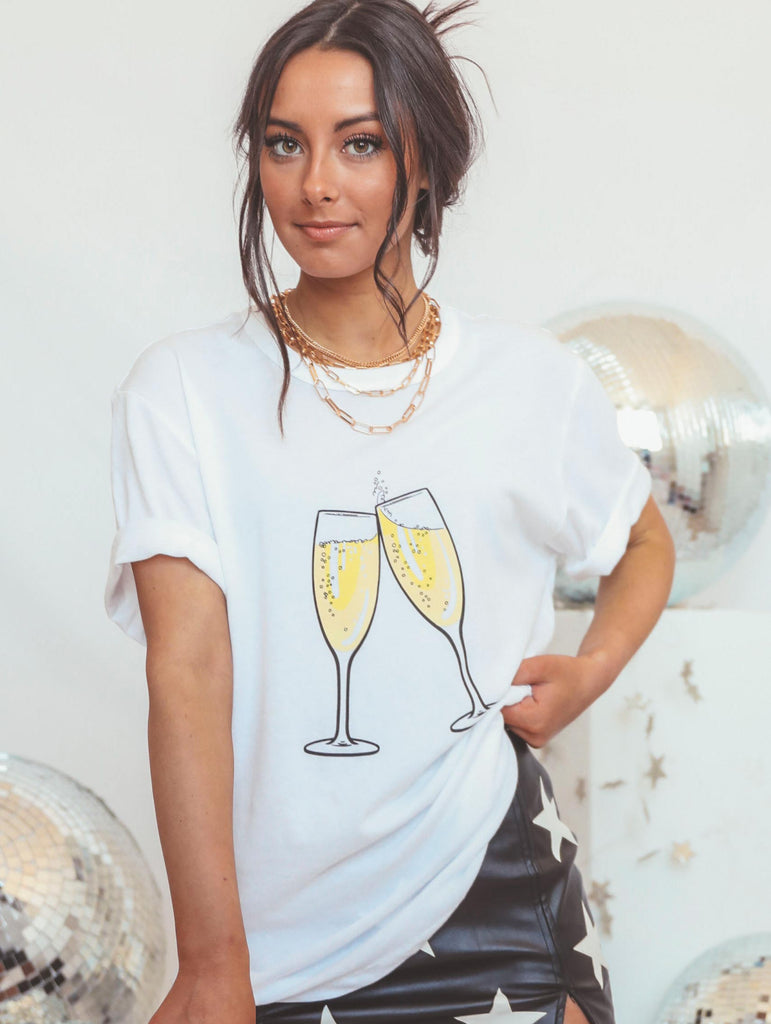 F+S: MORE CHAMPAGNE PLEASE (front + back)