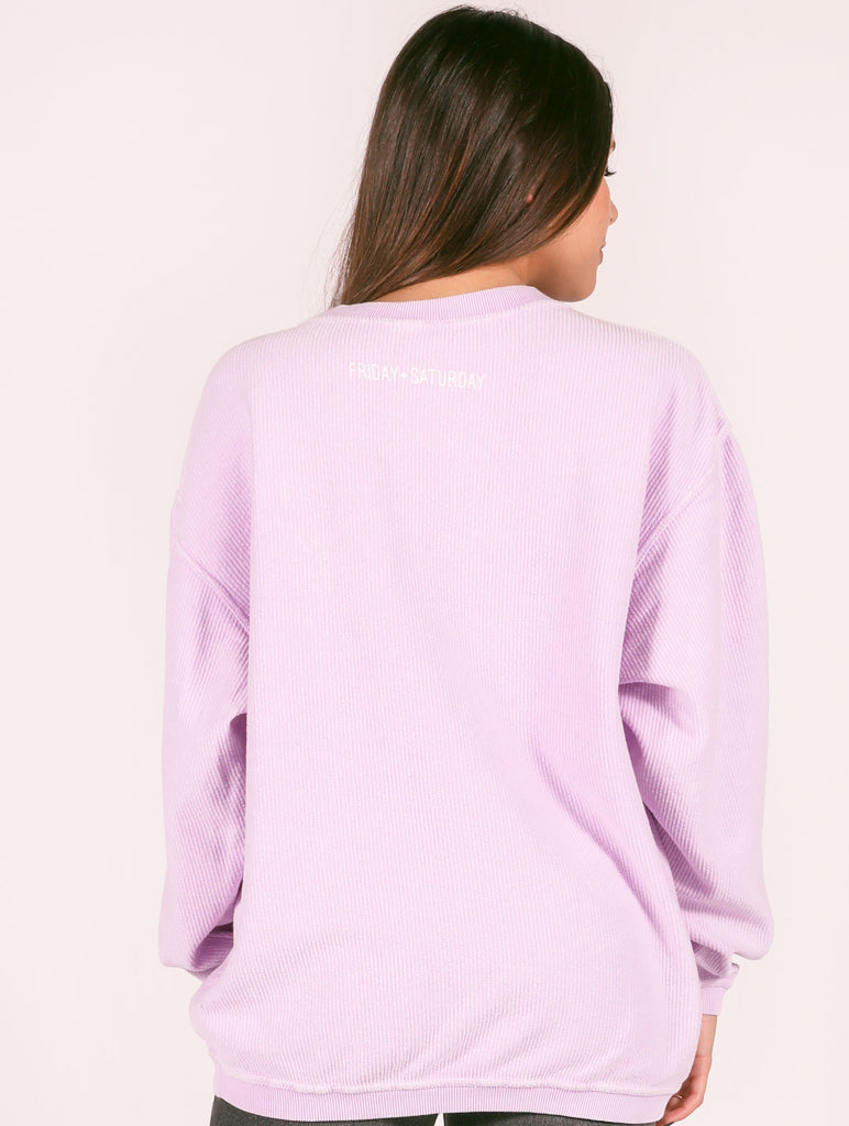 WEEKEND CORDED SWEATSHIRT