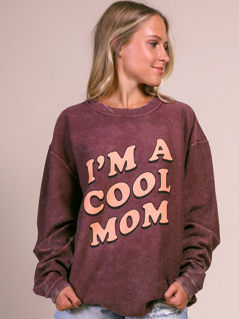 F+S: COOL MOM CORDED SWEATSHIRT