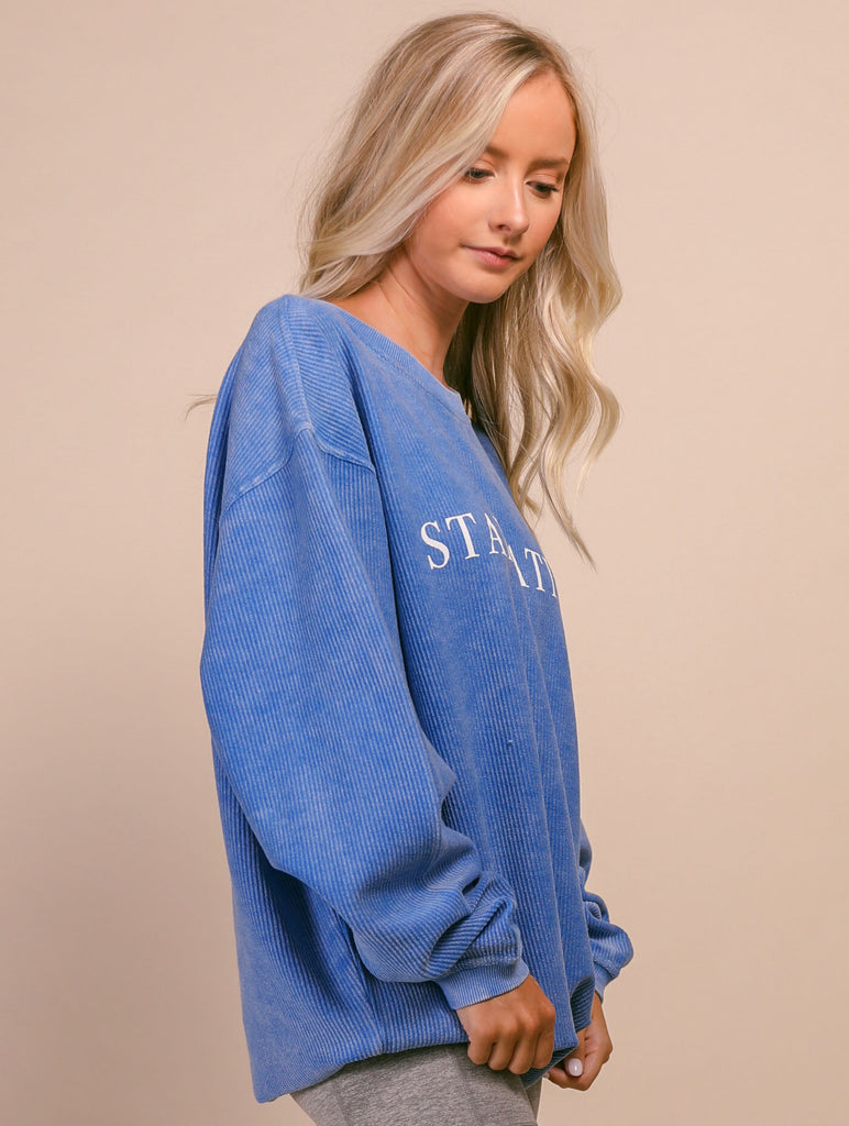 F+S: STAYCATION CORDED SWEATSHIRT