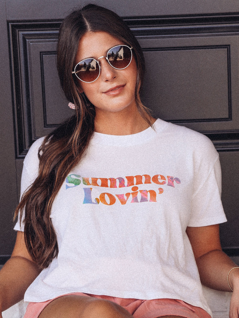F+S: SUMMER LOVIN' CROPPED TEE