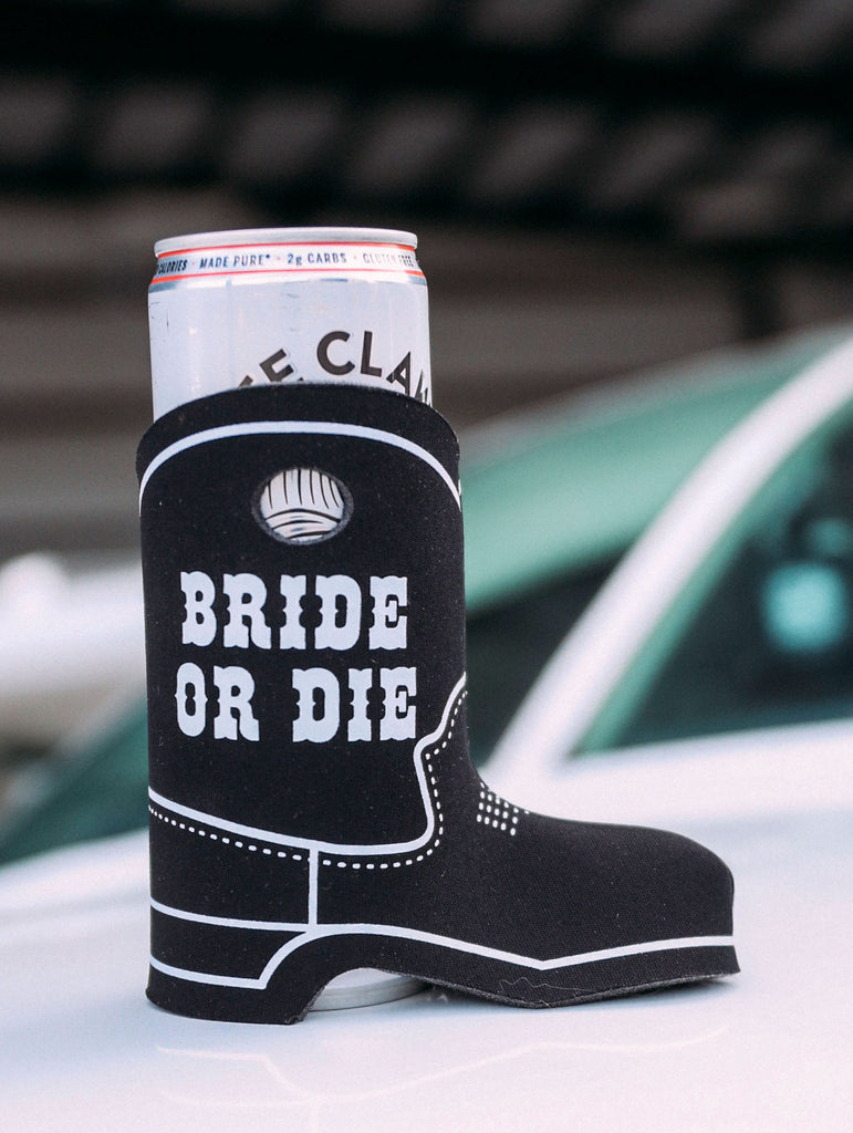 BRIDE OR DIE BOOT DRINK SLEEVE