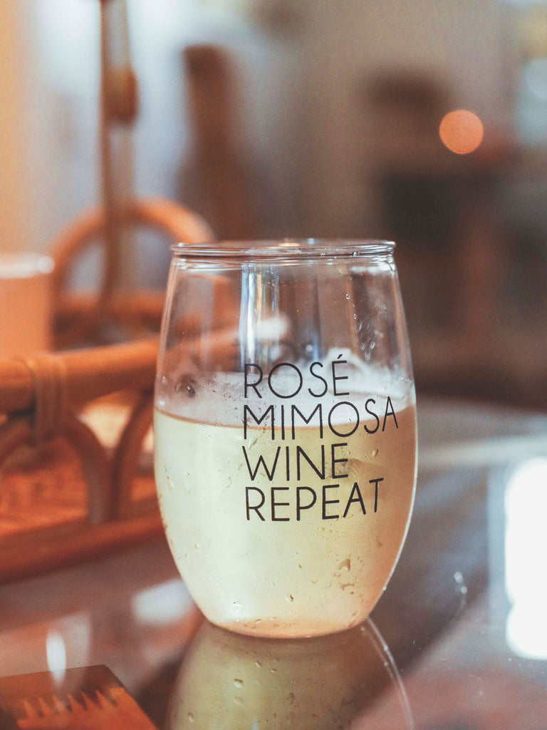 F+S: ROSE MIMOSA WINE GLASS
