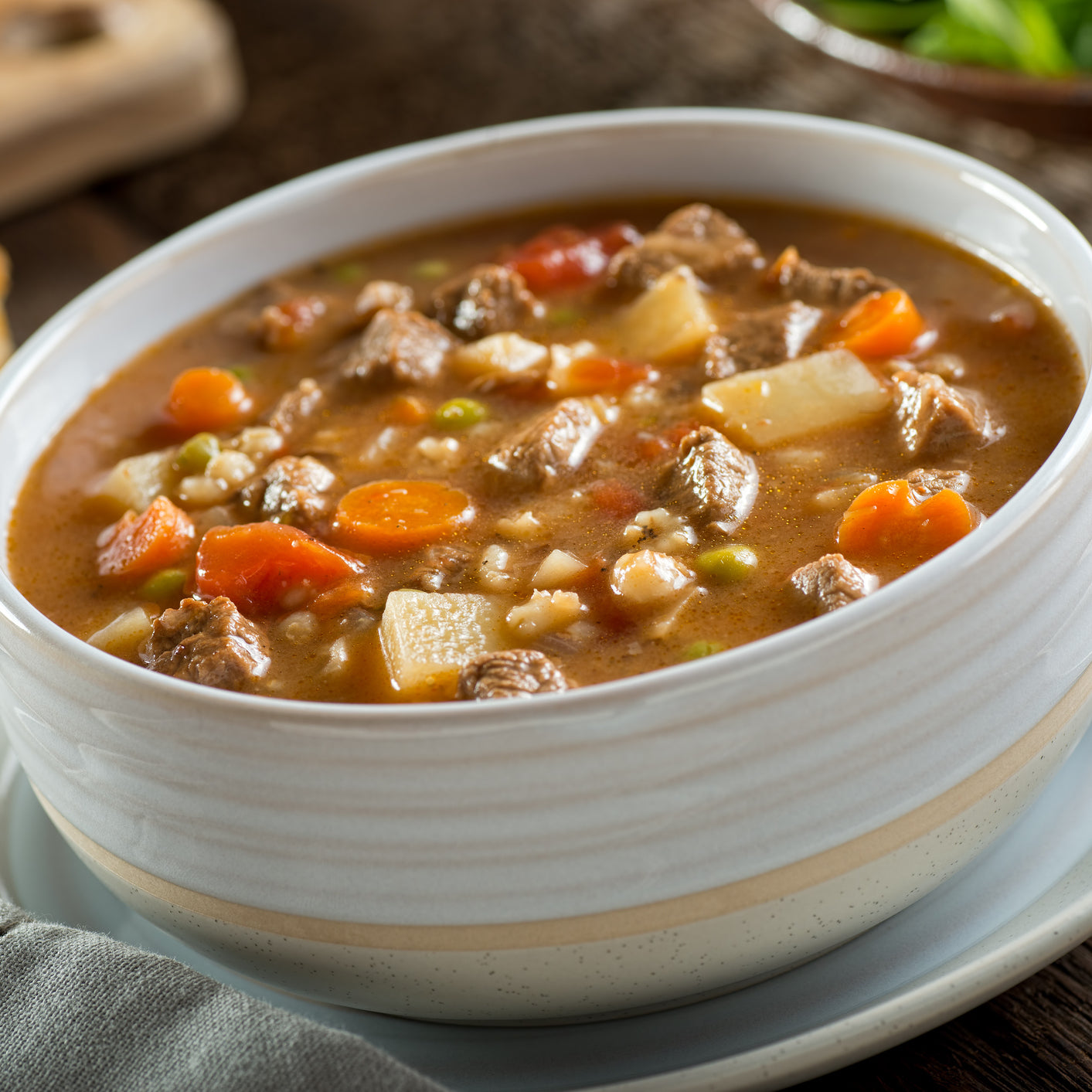 Hearty Beef Soup with Potatoes and Carrots