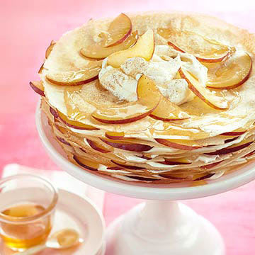 Crepe Cake with Plums