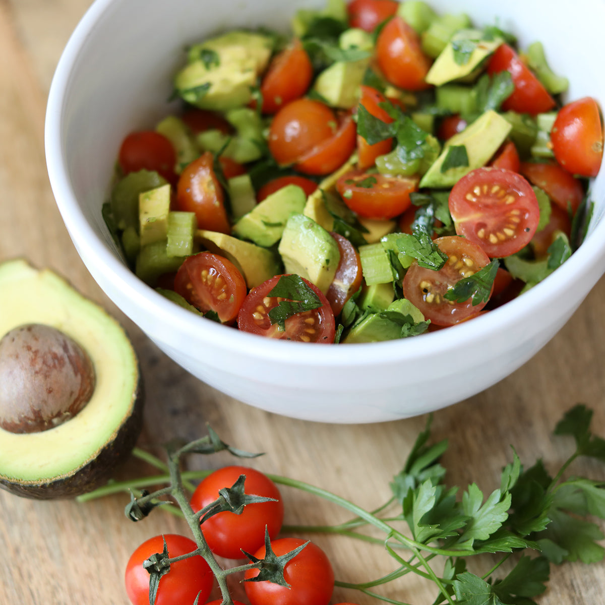 Cherry Tomato and Avocado Salad