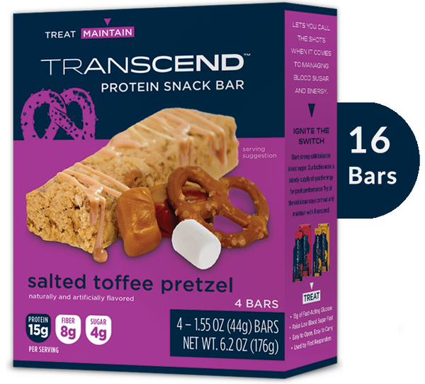 NEW Protein Snack Bars - Salted Toffee Pretzel (16 Bars)