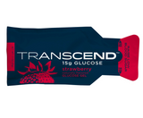 Transcend 15g Glucose Gel - Strawberry - (1) Case of 12 (3 packs) - Total 36 Gels