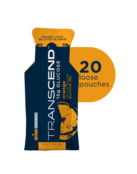 Transcend 15g Glucose Gel - Orange - 20 Pouches