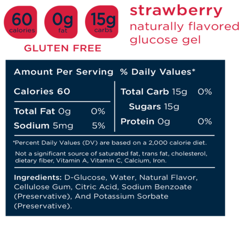 Transcend 15g Glucose Gel - Strawberry - 30 Pouches
