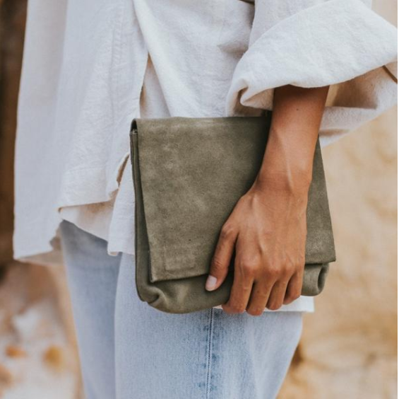 Stagni_olive_suede_leather_clutch_mjresident