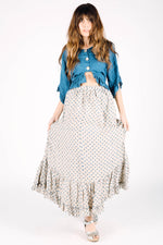 Belinda Skirt Natural Blue Dot, HD-018 N/B DOT