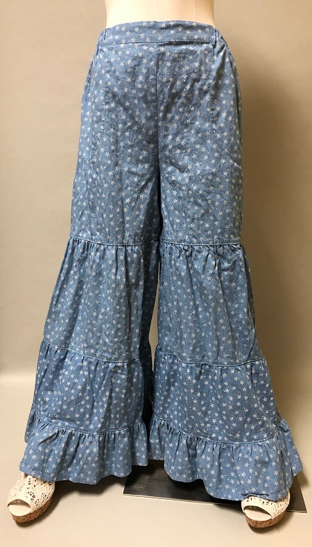 Gypsy Pant Star Chambray Denim