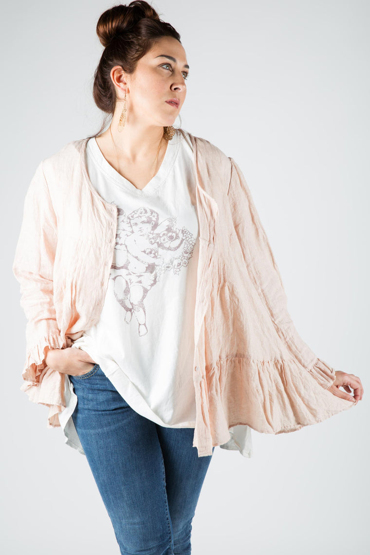 Chloe Top in Linen, HD-30
