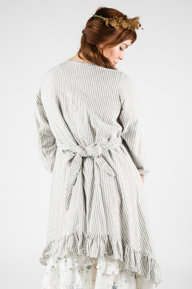 Bella Coat in Linen Stripes, USA