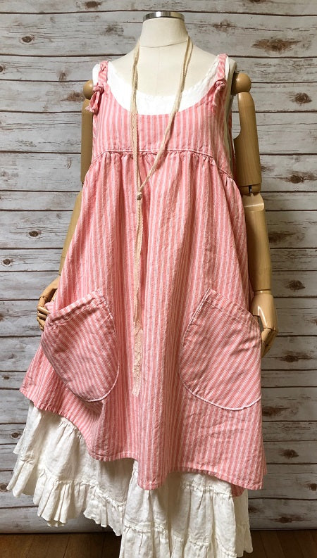 Arminda Pinafore, Rustic Cotton, USA