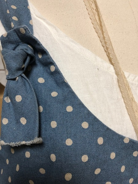 Arminda Pinafore Denim Dot