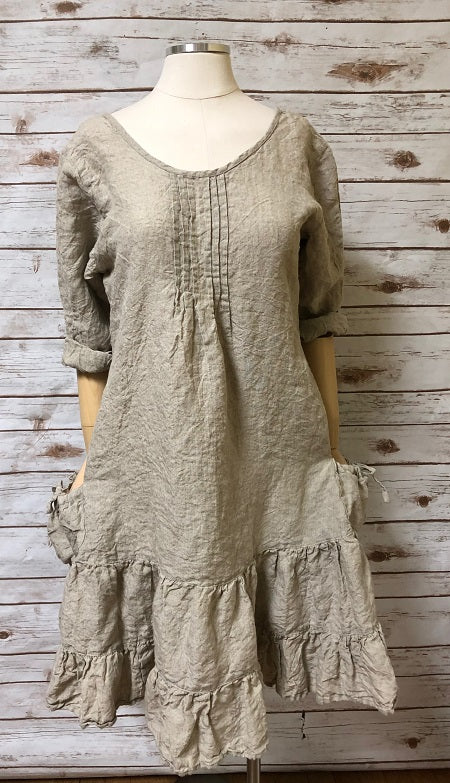 Sophie Dress Natural Linen, HD-005 N