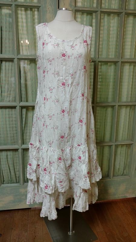 Carrie Dress Sleeveless in Floral Linen, HD-062