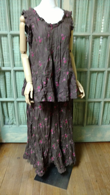 Belinda Skirt Brown Floral, HD-018 BF