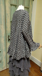 Rebecca Top Grey Dot, HD-029 GDOT