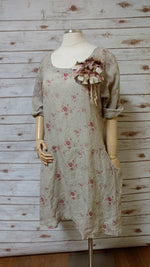 Petra Dress in Floral Linen, HD-017