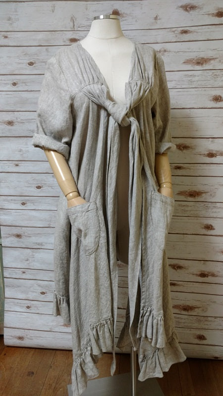 Bella Coat  Sleeve in Linen, USA