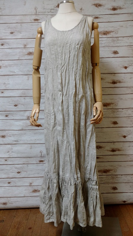 Fairy Slip Dress Oatmeal Hankie Linen, USA