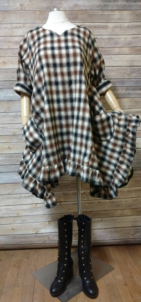 Lana Top in Plaid Flannel, USA