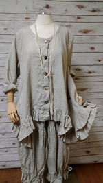 Butterfly Jacket Long in Linen, USA