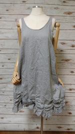 Petal Slip Dress Short in Linen, USA