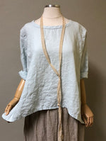 Crop Simple Tee in Linen, USA