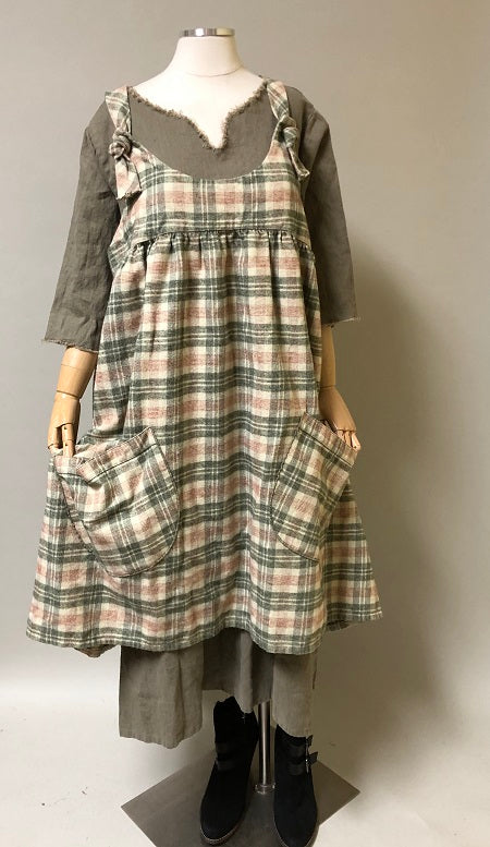 Arminda Pinafore in Flannel