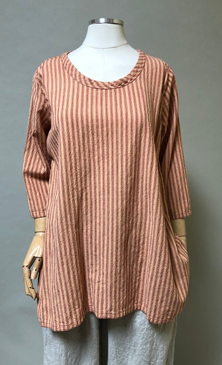 Simple Top in Cotton Stripe, USA
