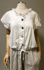 Chemise Top Embroidered Cotton