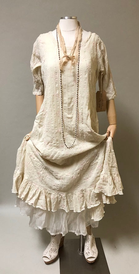 Prairie Dress Embroidered Gauze
