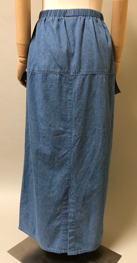 Pencil Skirt Linen Cotton Denim