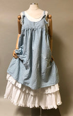 Arminda Pinafore in Rustic Cotton